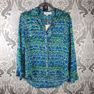 NWT Two by Vince Camuto button down blouse